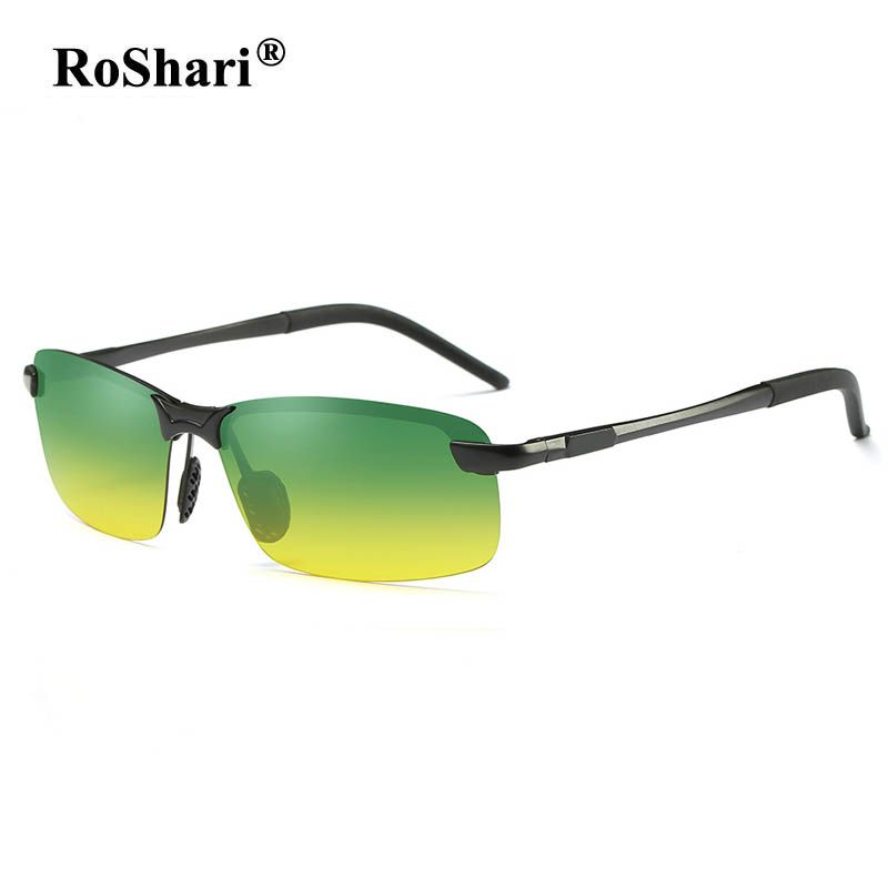 5db24dcd46ca0 RoShari Men Polarized Sunglasses high quality Day Night Vision Anti-Glare  car Driving sun glasses