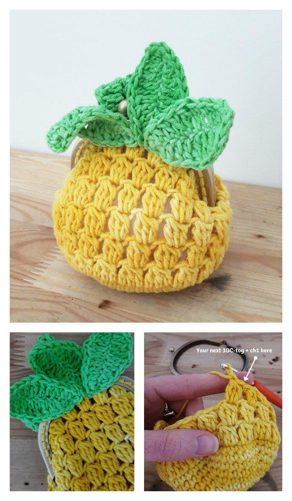 Crocheted Coin Purse Free Patterns Pinterest Free Pattern Coins