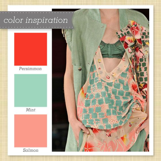 Red Pink Mint Color PaletteOR Coral And Seafoam So Many Options