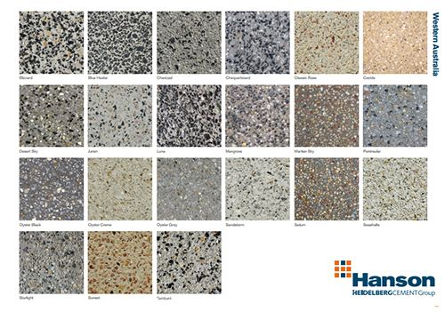 Decorative Concrete Perth Hanson Aggregate Pinterest Exposed