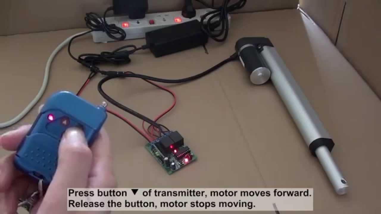How To Control Linear Actuator Motor By Ordinary 2ch Rf