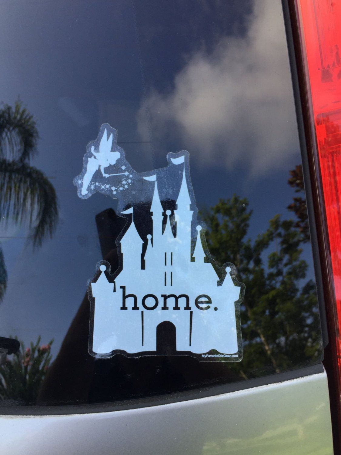 Disney Is My Home Castle With Tink Decal Disney Cars Disney Disney Decals [ 1500 x 1125 Pixel ]