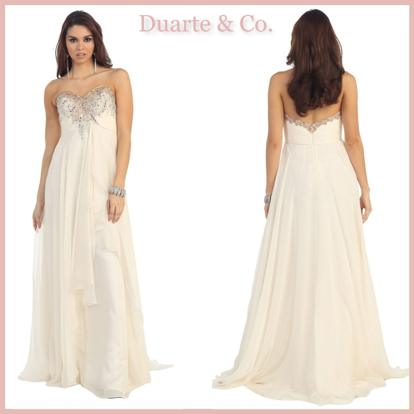 7036f4ddbc RQ7087  148.00 Strapless Sequin Chiffon Dress W Plus Size Comes in 10  colors Available from 4 to size 20.