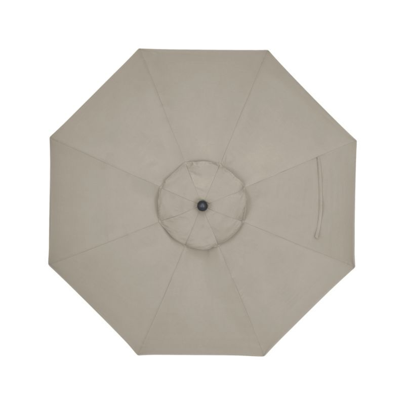 9 Round Sunbrella 174 Stone Patio Umbrella With Tilt Black
