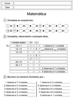 Nome Data Matematica 1 Completa As Sequencias 1311 19179 2