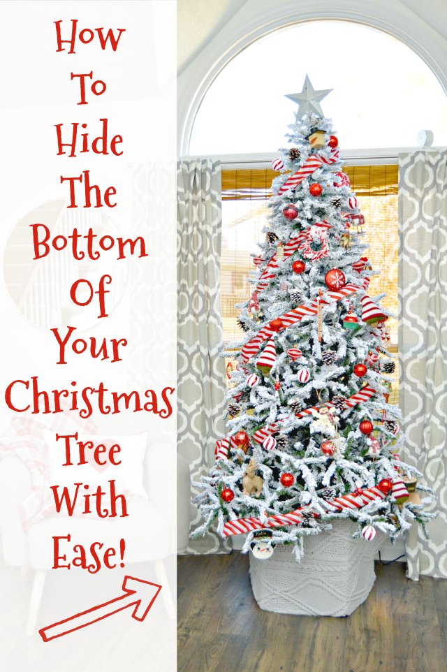 How To Hide The Bottom Of Your Christmas Tree Mom 4 Real Diy Christmas Tree Skirt Real Christmas Tree Diy Christmas Tree