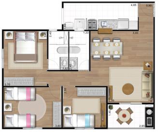 plantas de casas 70m2 com 3 quartos plantas de casas