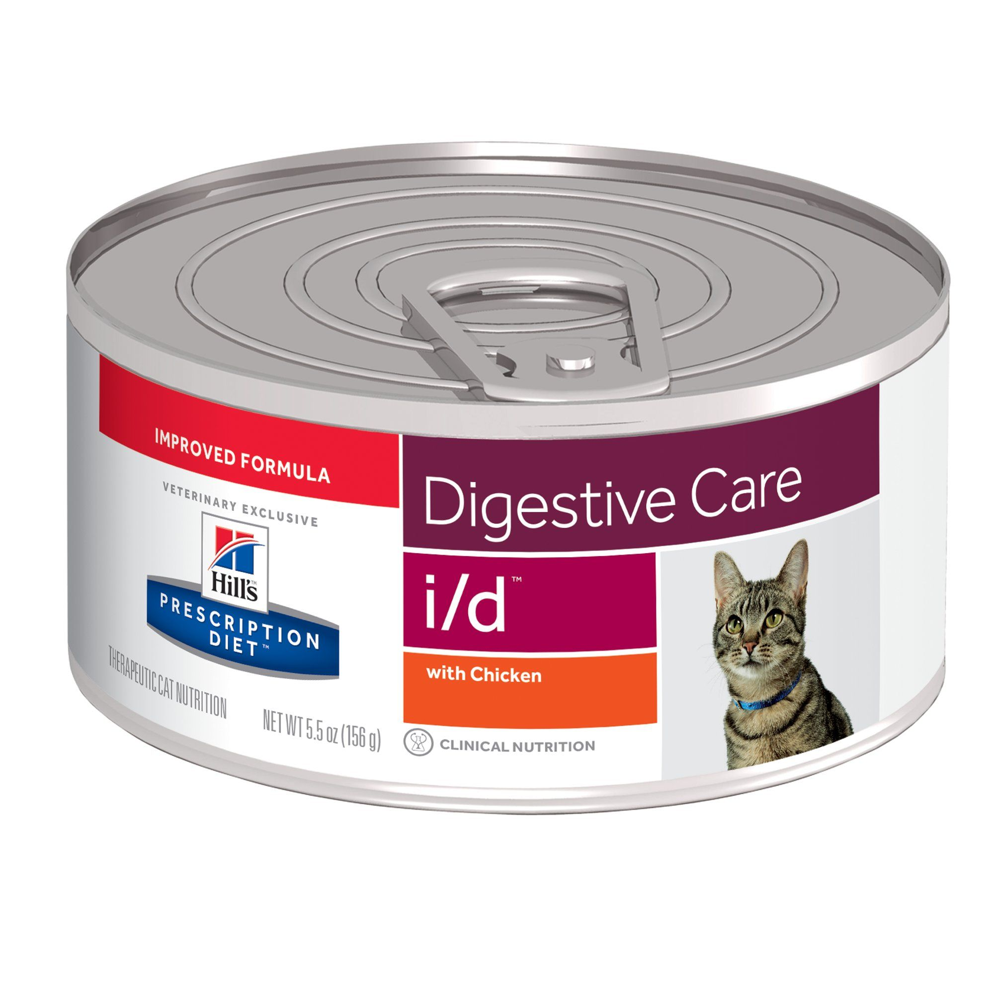 Hill S Prescription Diet I D Digestive Care With Chicken Canned Cat Food 5 5 Oz Case Of 24 Diet Cat Food Canned Cat Food Cat Diet