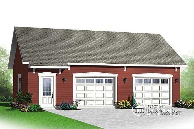 Over size two car garage plan Two Car Garage Plans Pinterest - dessiner une maison en 3d