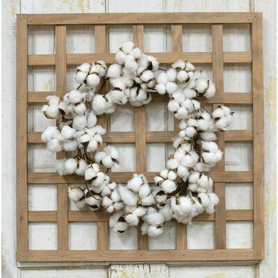 August Grove 20 Cotton Ball Wreath Twig Wreath Cotton Wreath Wreaths