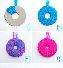 Resultado de imagen de manualidades con lana faciles paso - Como hacer manualidades con lana ...