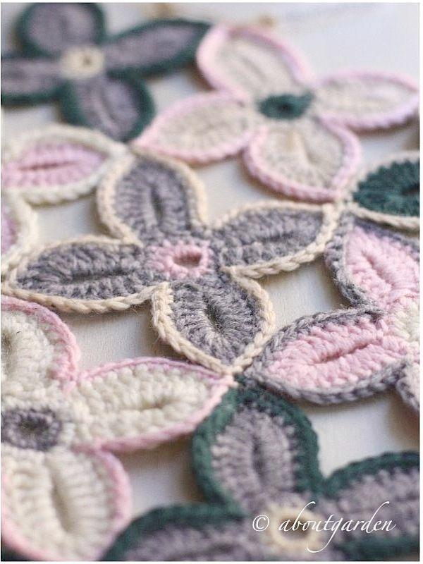 Fiori a crochet | Tejido, Manta y Flores