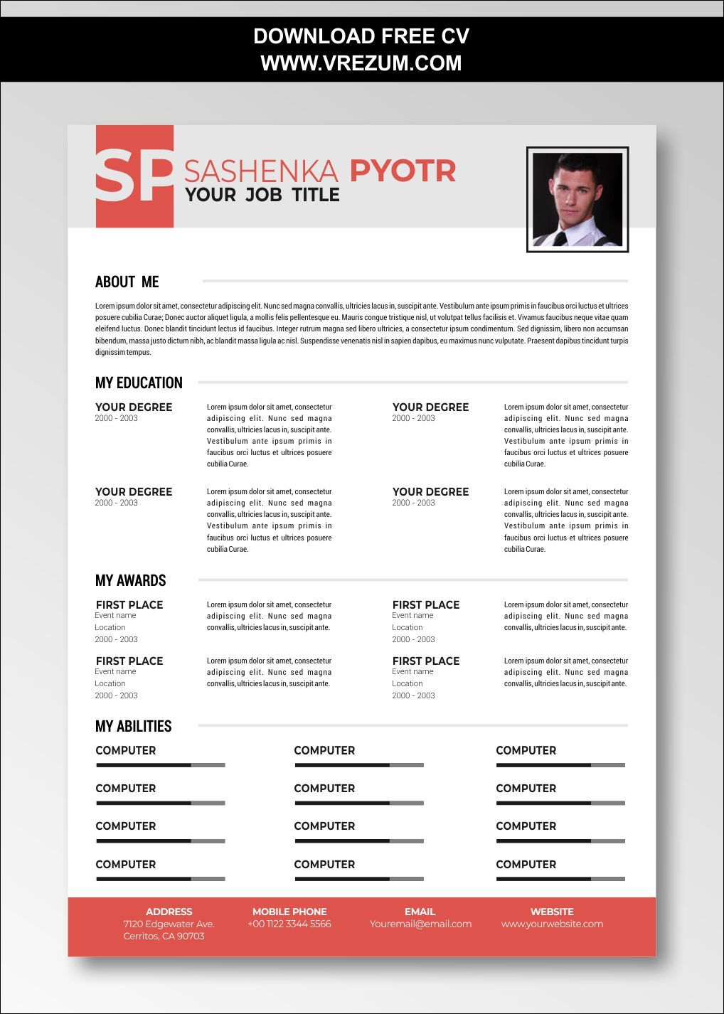 (EDITABLE) FREE CV Templates For High School Students in
