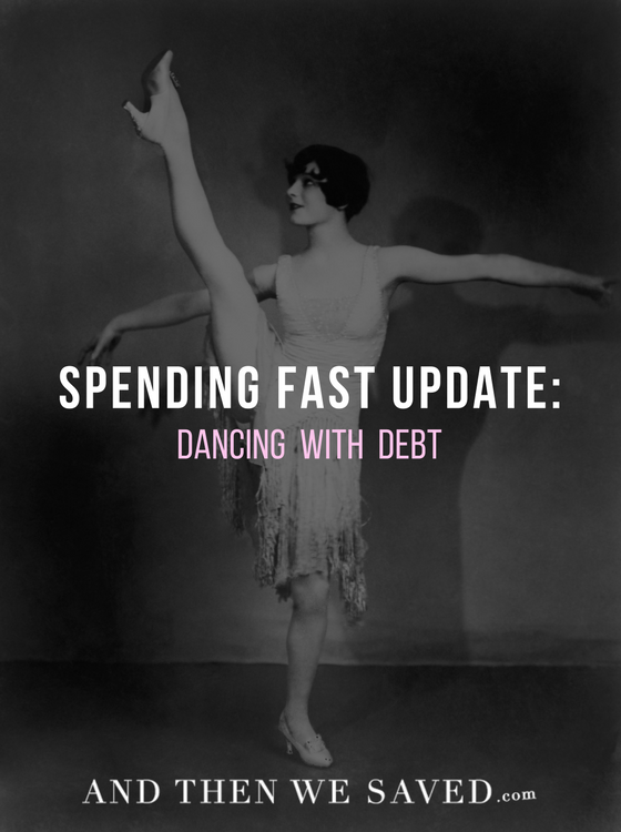 Since entering this new round of my Spending Fast, I feel like my debt opponent and I are just dancing around each other in the ring.   AndThenWeSaved.com