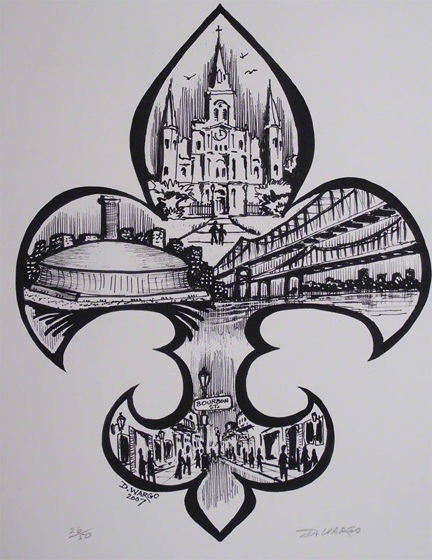 Fleur De Lis Painting By The Famous New Orleans Artist David