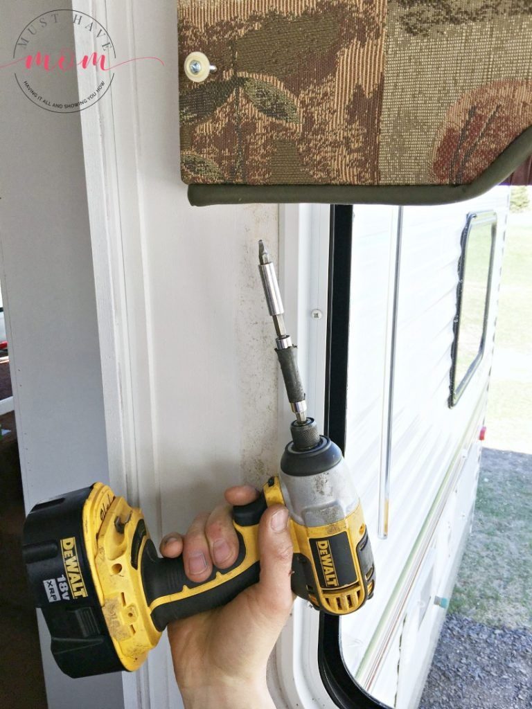 How to remove outdated rv window coverings from your