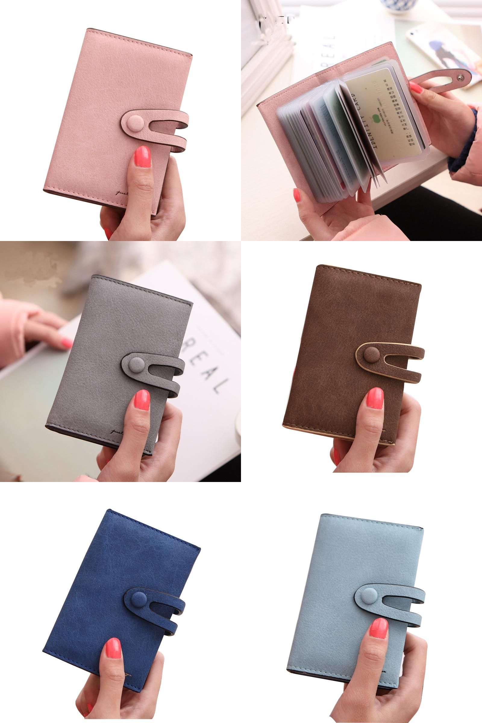 Visit to Buy] 20 Card Slots Women Card Holders Fashion Nubuck Pu ...