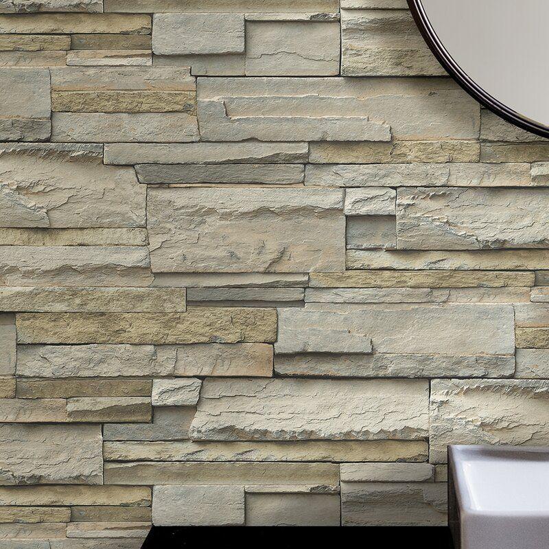 Pavie Slate 18 L X 20 5 W Peel And Stick Wallpaper Roll Wallpaper Roll Brick Wallpaper Roll Peel And Stick Wallpaper