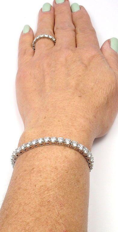 Tiffany Co 9 23ct Diamond Platinum Tennis Bracelet Image 8 Beautiful Jewelry Bracelet Jewelry Stylish Bracelet