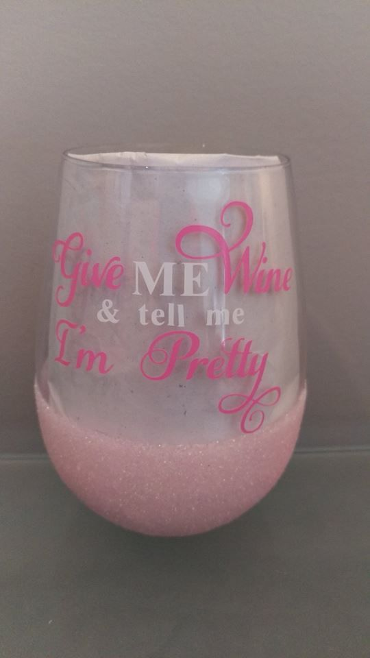 Stemless Wine Tumbler Coffee Travel Mug Give Me Wine And Tell Me I/'m Pretty