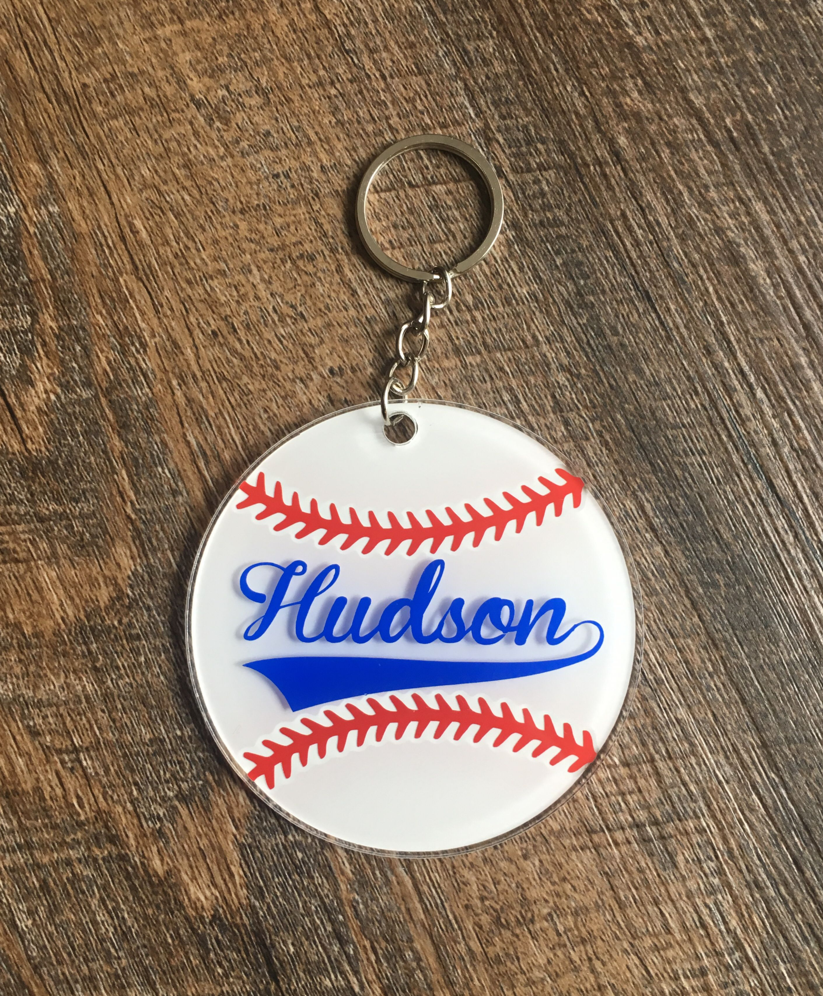 3 Acrylic Personalized Baseball Book Bag Keychains Tags Etsy In 2020 Personalized Baseballs Sports Lover Gifts Kids Baseball Gifts