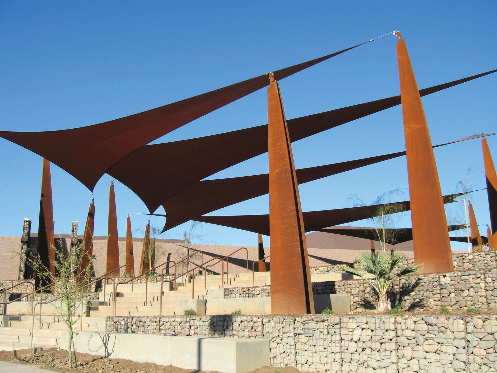 Shade sails offer aesthetic and functional appeal Photo