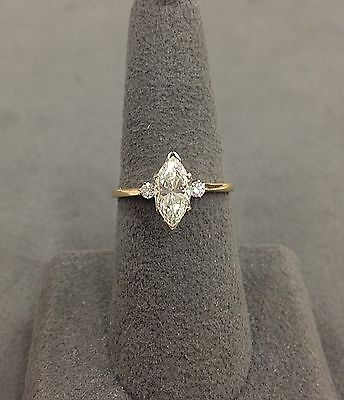 14k Yellow Gold Marquise Diamond Engagement Ring 100 166 Marquise Diamond Engagement Ring Wedding Rings Vintage Vintage Engagement Rings