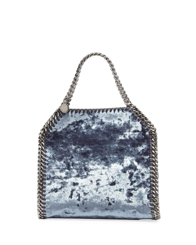 Stella McCartney Falabella 3-Chain Fold-Over Velvet Tote Bag   Bag ... 1ed8a4dc3d