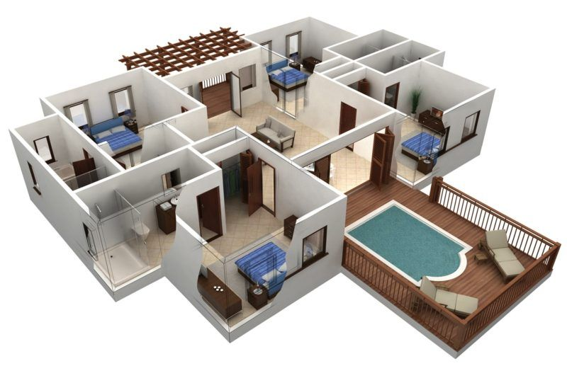 3d Raumplaner Die Kreative Wohnungsgestaltung Schlafzimmereinrichten Ideen Ikea Grundriss Wohnzimm 3d House Plans Building Plans House Smart House Plans