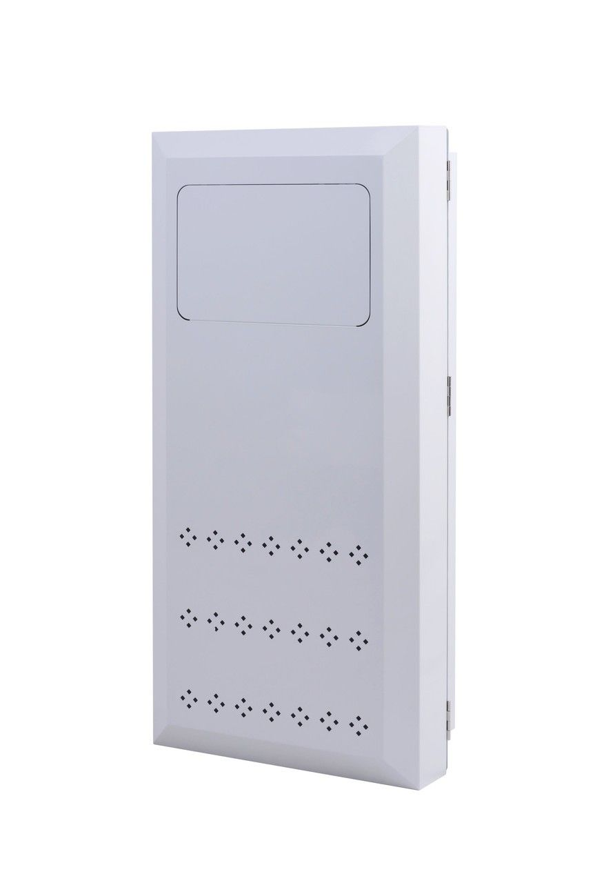 Krupp Built In Wall Laundry Clothes Hamper Receptacle White