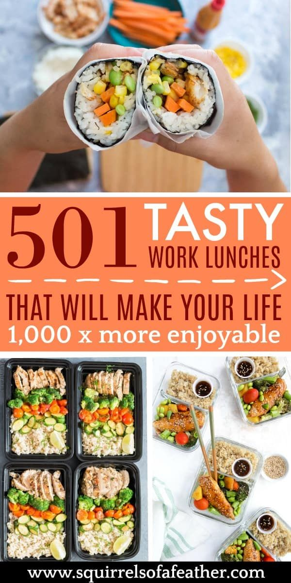 501 Healthy Lunch Ideas for Work That Are ANYTHING But Boring! images