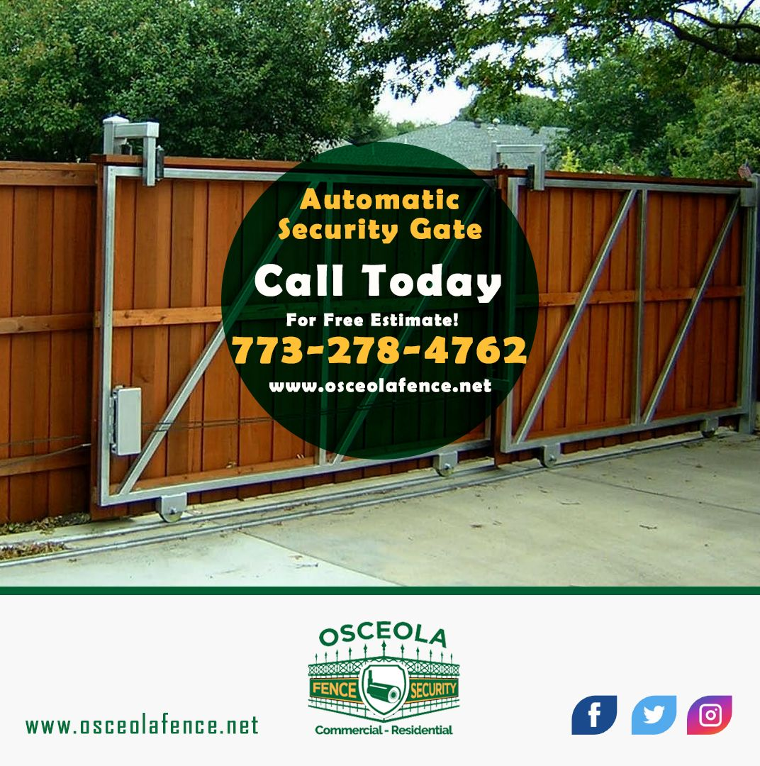 Osceola Fence And Security Solutions Our Automatic Security Gate Company In Chicago Offers Manufacturing Services Gate Company Osceola Security Solutions