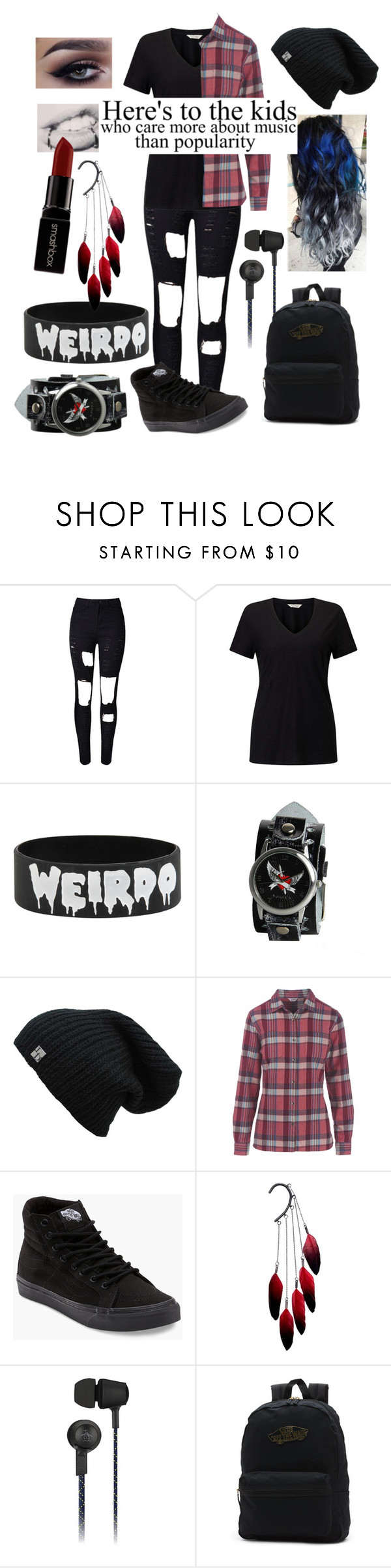 """""""Concert Wear"""" by choice-to-be ❤ liked on Polyvore featuring Miss Selfridge, Nemesis, Woolrich, Vans, Anni Jürgenson, Original Penguin and Smashbox"""