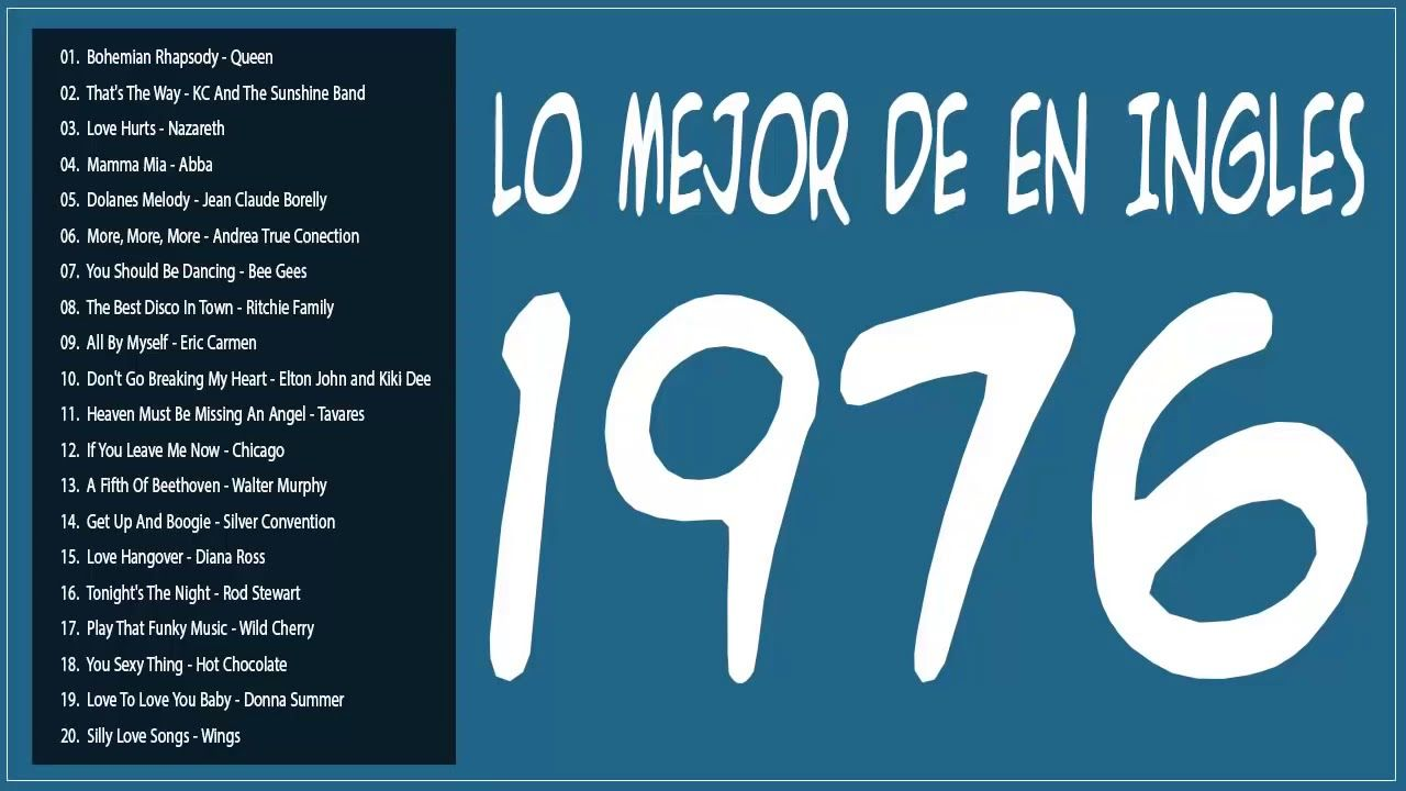 Lo Mejor De 1976 En Ingles Viejitas Pero Bonitas Romanticas