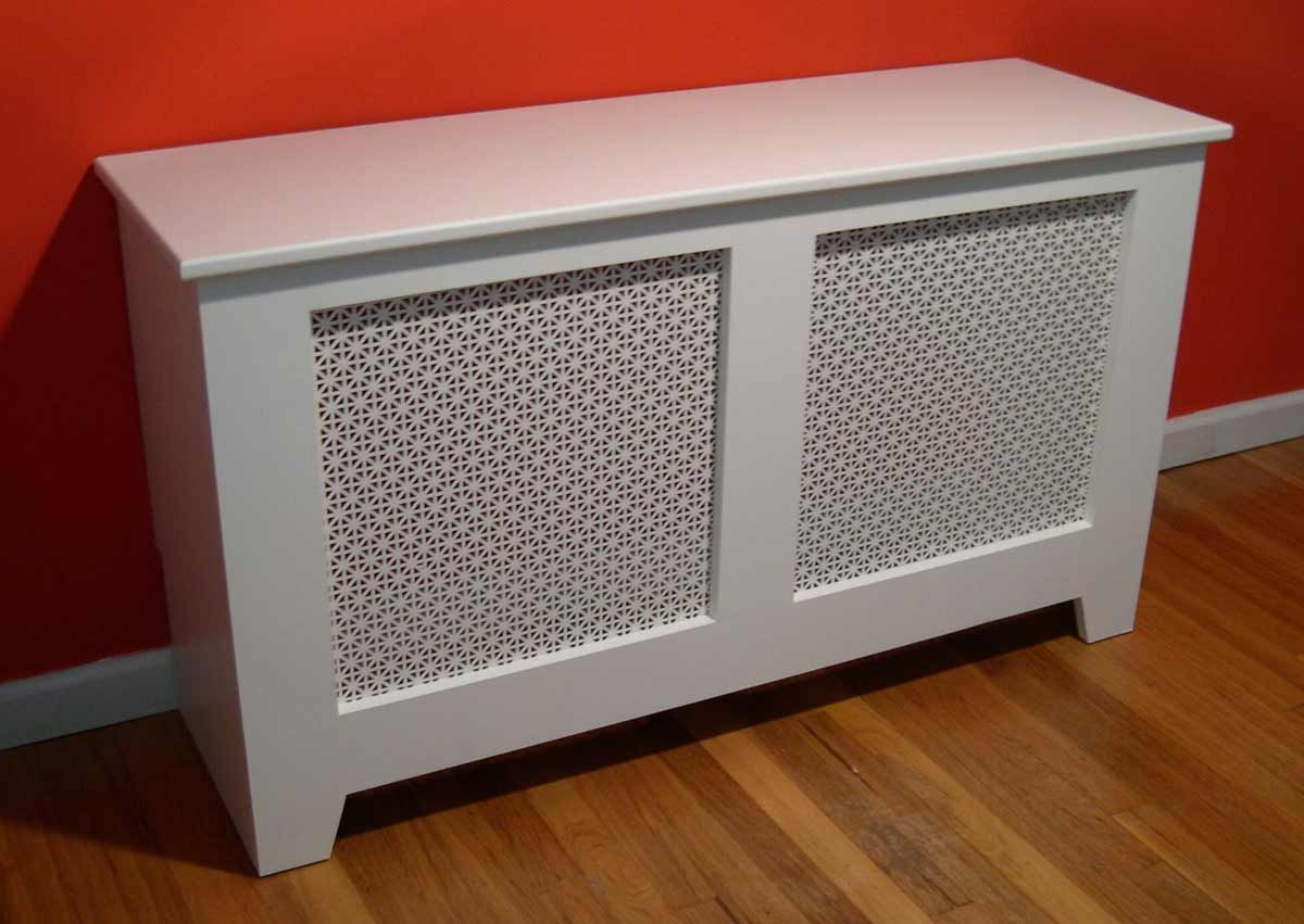 Diy white baseboard heating coverssame type of concept