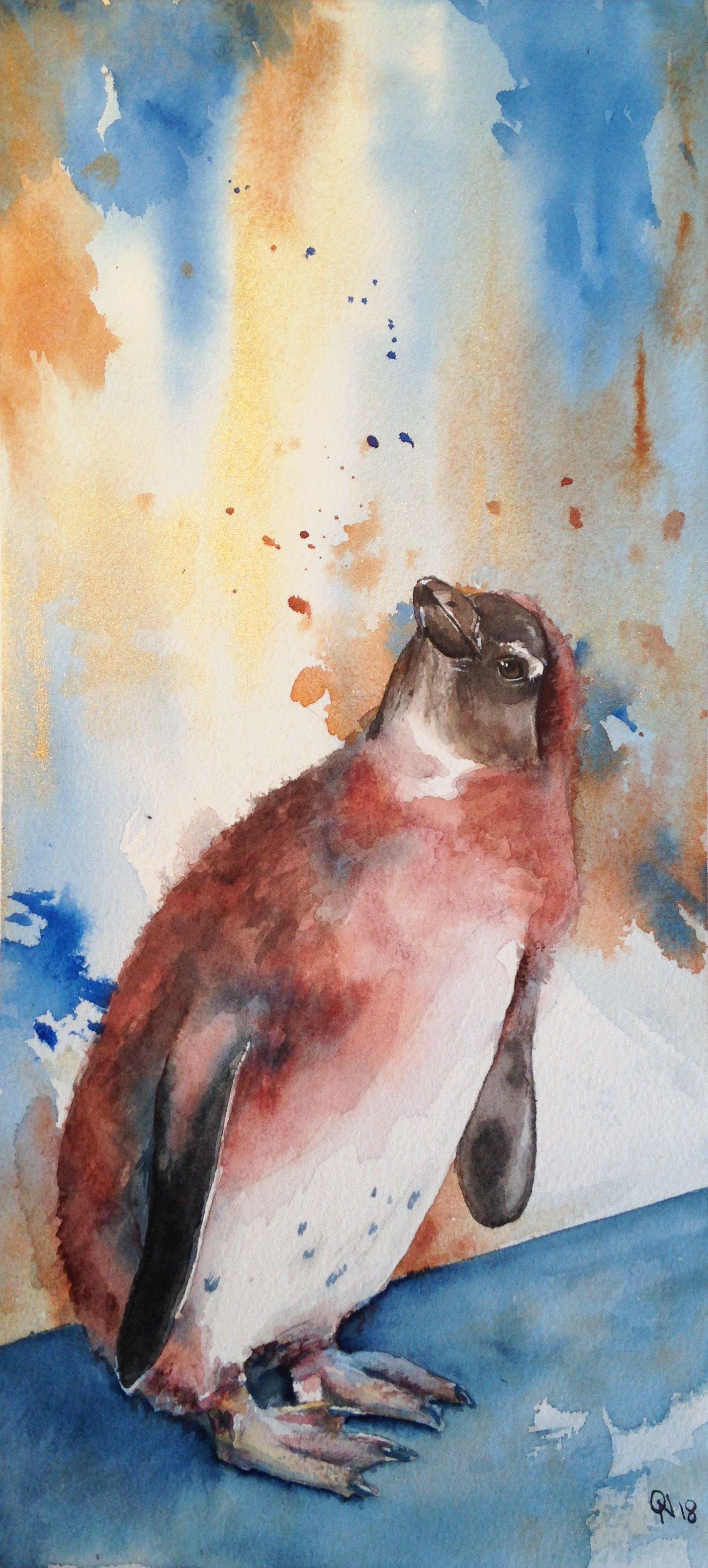 Manchot Animal Aquarelle Pingouin Zoo Dessin Art Peinture