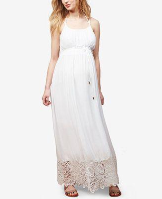 119be60a217 Motherhood Maternity Lace-Trim Maxi Dress - Maternity - Women - Macy s