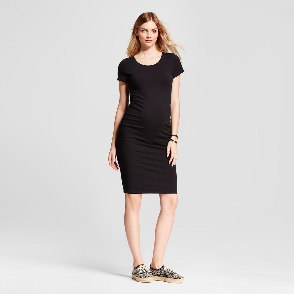 ec5a7e854e243 Maternity Short Sleeve Shirred T-Shirt Dress - Isabel Maternity by Ingrid &  Isabel Black XL, Women's