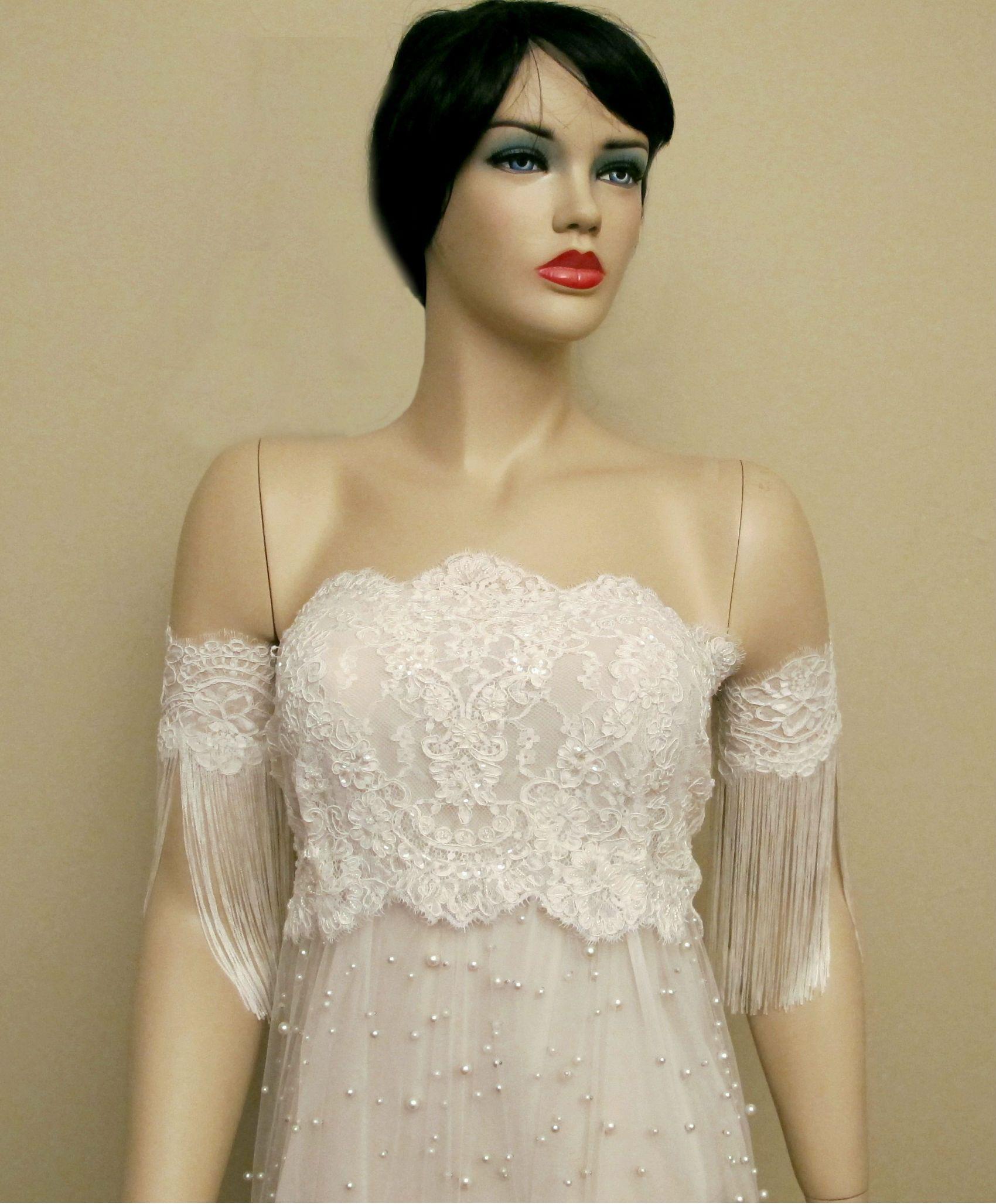 Detachable Off Shoulder Sleeves Boho Wedding Accessories