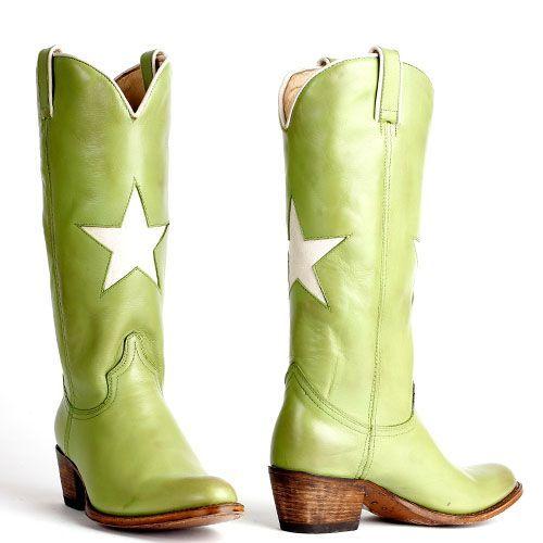 Sendra sterren cowboylaarzen debora 13104 groen | Gave