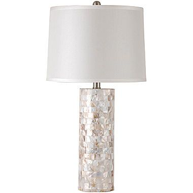 Jcpenney Lamp Shades Beauteous Home™ Motherofpearl Table Lamp  Coastal Lights And Interiors Decorating Design