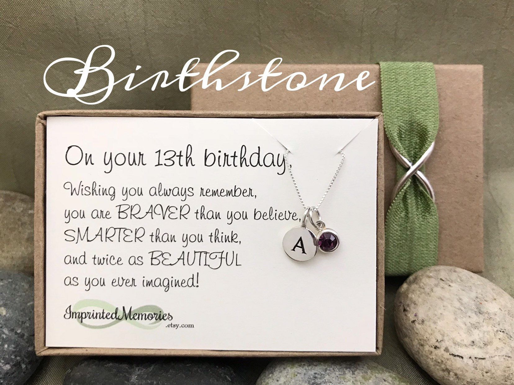 13th birthday gift for girls tiny personalized