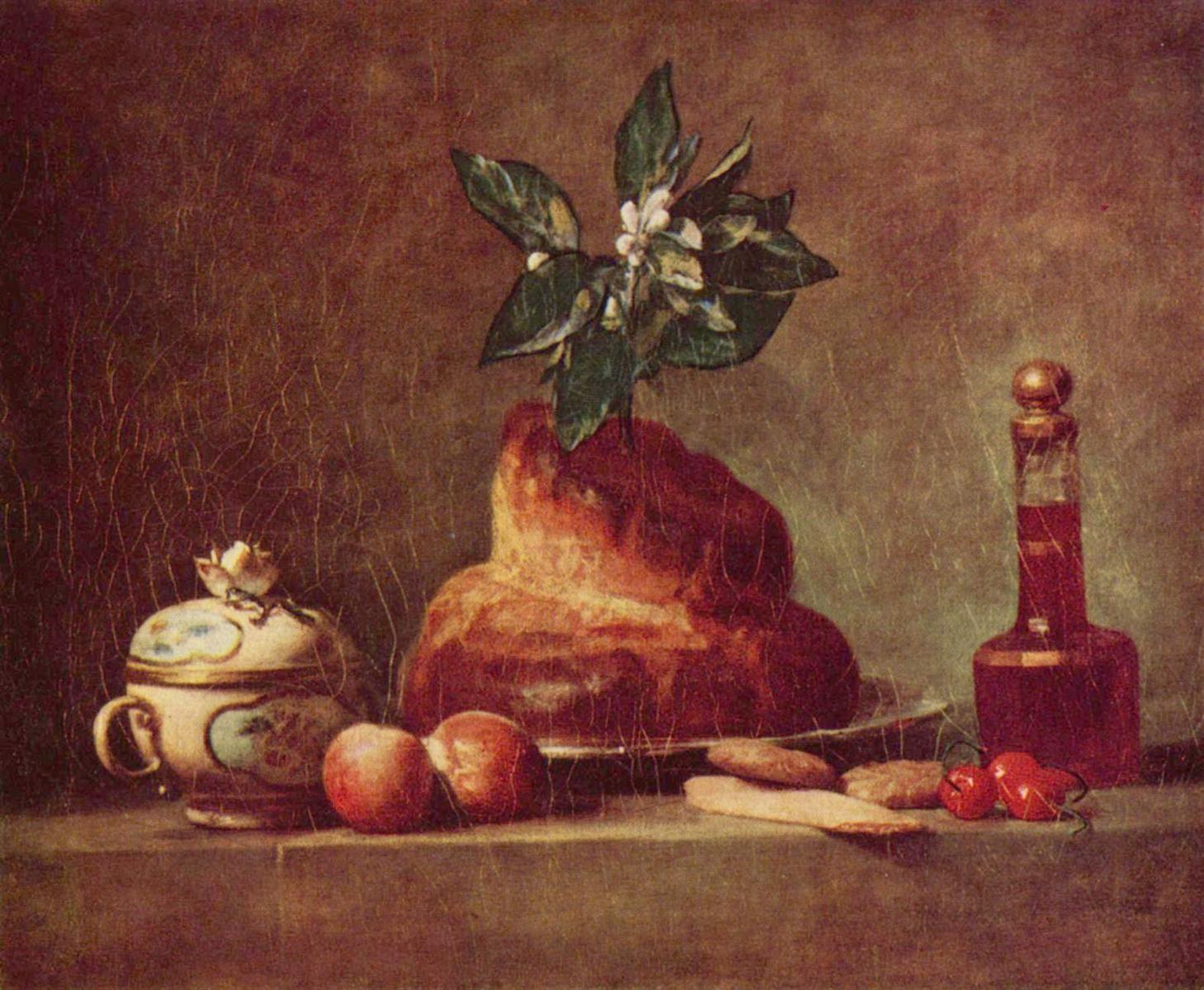 .:. Still life with Brioche, 1763 Jean-Baptiste-Simeon Chardin