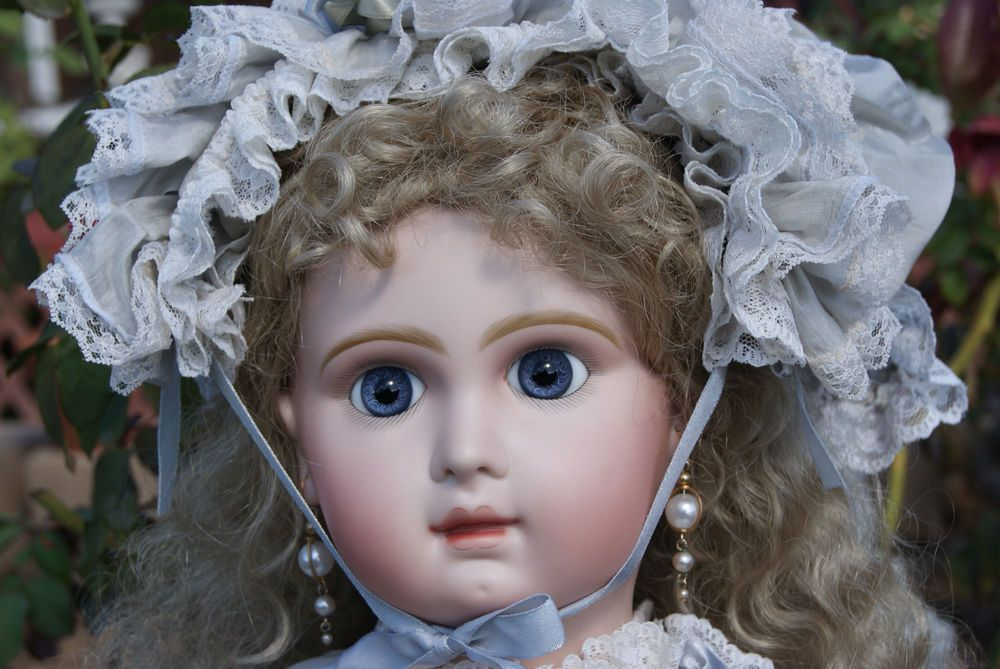 "Huge 28"" Artist Antique Repro Bisque head French Jumeau Doll FINAL $ REDUCTION! Designed by Dollightfully Yours"