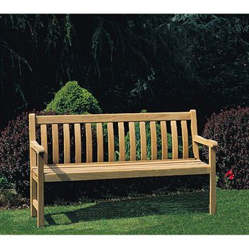 bridgman iroko saxon bench 151cm 008 garden furniture 4u garden furniture - Garden Furniture 4 U