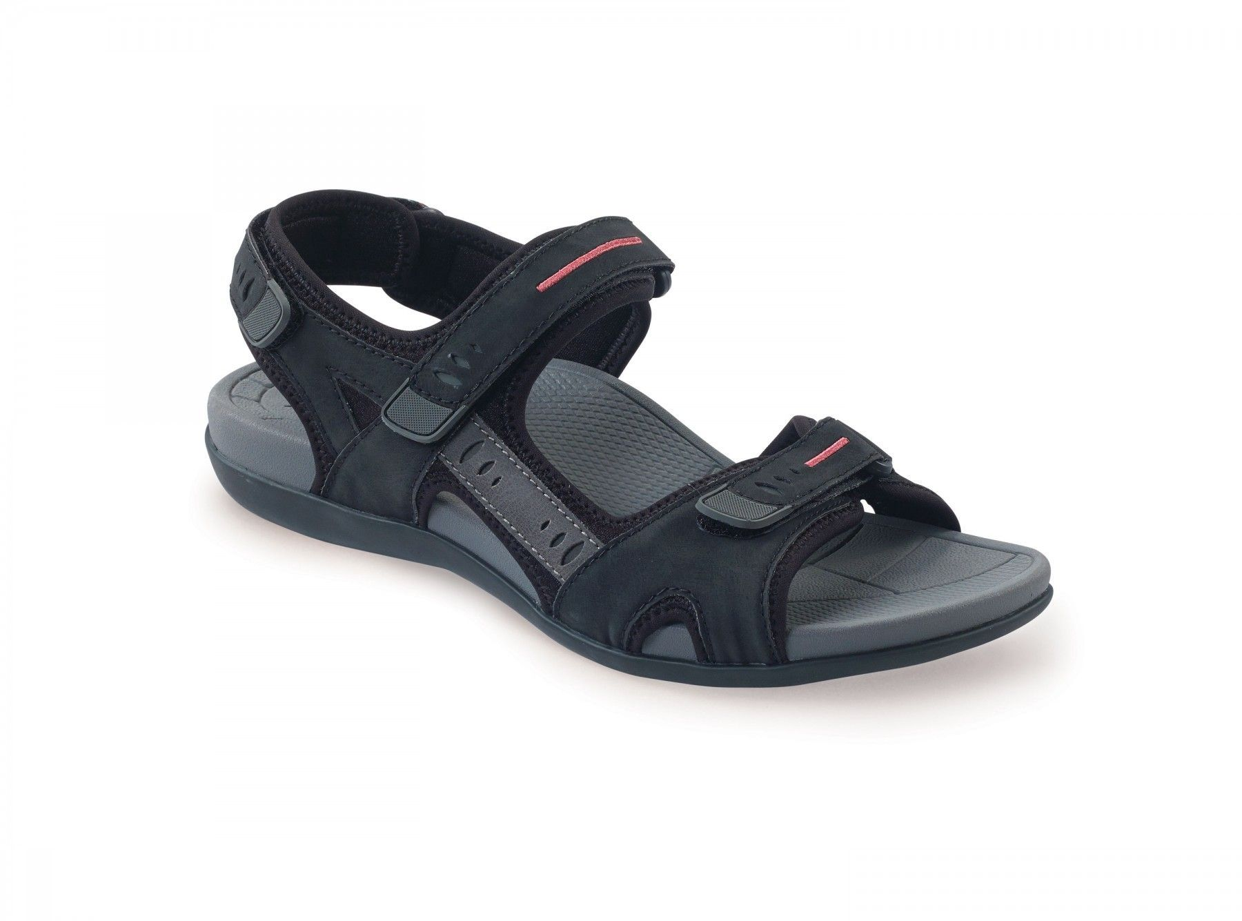 a54a5a0e5f2118 Aetrex Womens - Jackie Black - Comfrotable Sandal - Aetrex Worldwide  Orthotic Comfort Shoes
