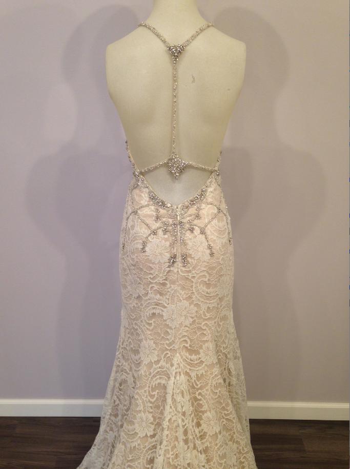 Alvina Valenta 9463 Backless dress formal, Alencon lace