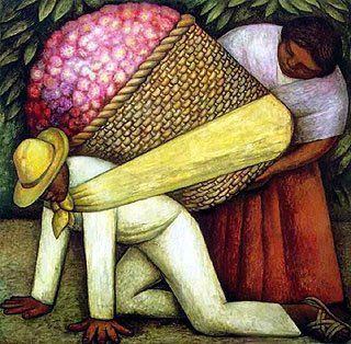 Mexican Art ~ The Flower Carrier Diego Rivera | Mexico | Pinterest ...