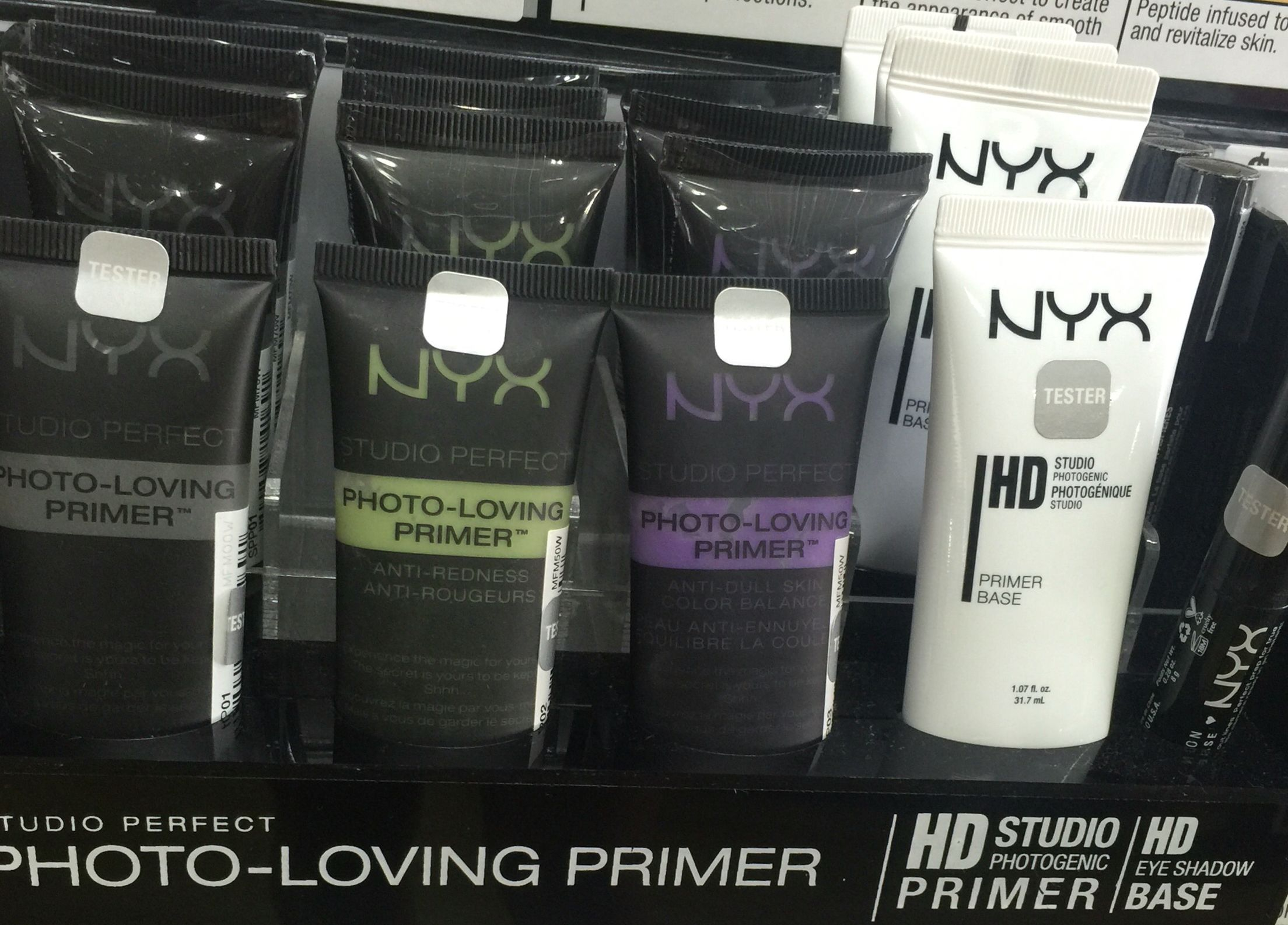NYX 'Photo Loving Primer' stay matte & let makeup sit nicely all day.  Creating the perfect canvas for makeup application, @NYX primers are are oil free and suitable for all skin types leaving skin on a matte finish look. #FIVE options:  •01 Clear- ensures be longevity of your makeup  •02 Green- balances redness in the complexion •03 Lavender- brightens and illuminates the skin  • 101 HD Primer- high definition, mineral enriched, talc-free & paraben free.  •04 HD Eyeshadow Base- for the colo