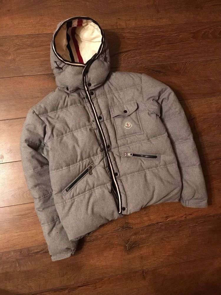 d221cb837 moncler jacket Size 5 Mens Branson Gray Puffer Down With Hood ...